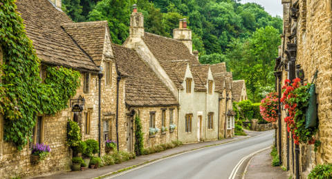 Castle Combe in Engeland
