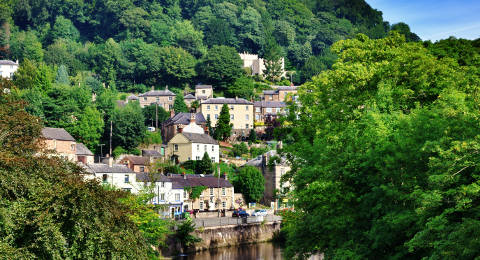 Matlock Bath in Derbyshire, Engeland