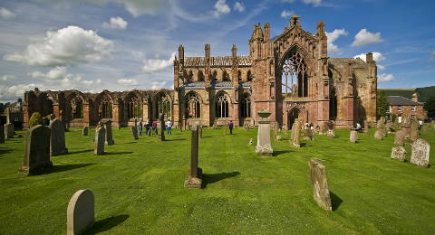 Melrose Abbey in Schotland
