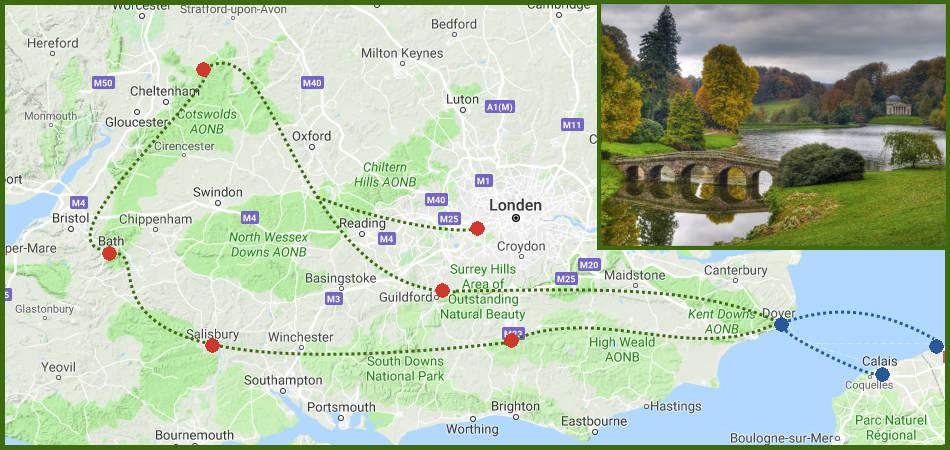 Autovakantie In De Herfst Door Zuid Engeland