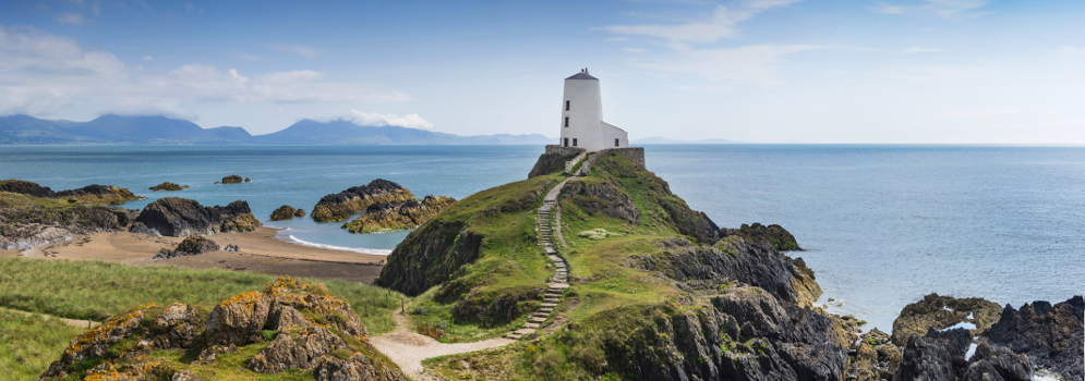 Het eiland Anglesey in Wales