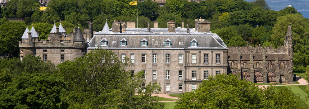 Palace of Holyroodhouse in Edinburgh, Schotland