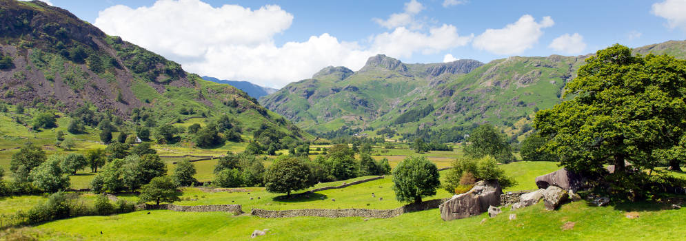 Great Langdale in het Lake District, Cumbria