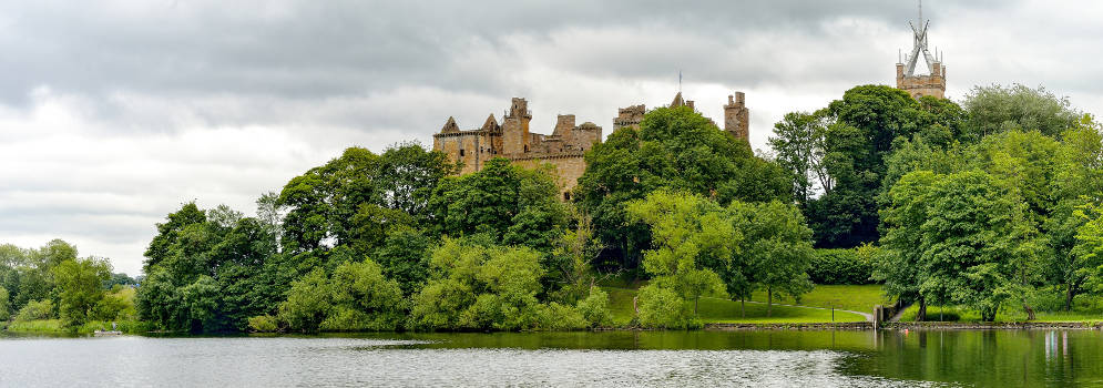 Linlithgow Palace in Mid Lothian, Schotland