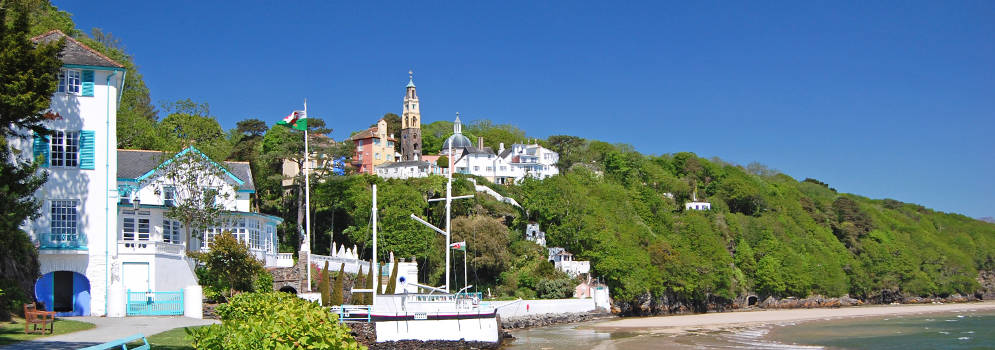 Portmeirion in Noord Wales