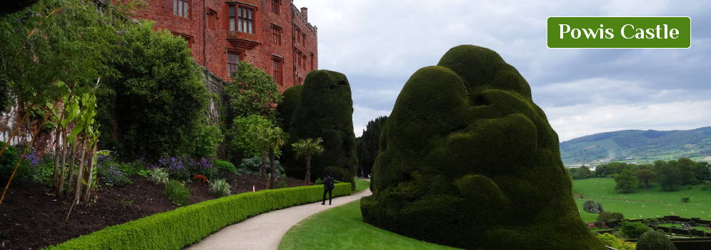 Powis Castle in Wales